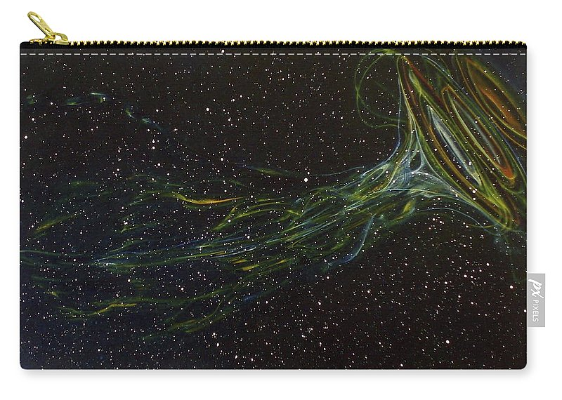 Abstract Carry-all Pouch featuring the painting Death Throes by Sean Connolly