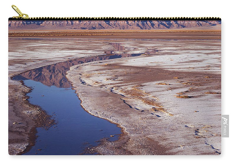 California Carry-all Pouch featuring the photograph Death Valley Salt Stream 1-h by Tom Daniel