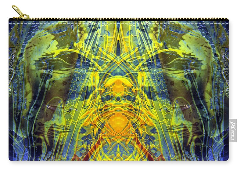 Surrealism Carry-all Pouch featuring the digital art Decalcomaniac Intersection 1 by Otto Rapp