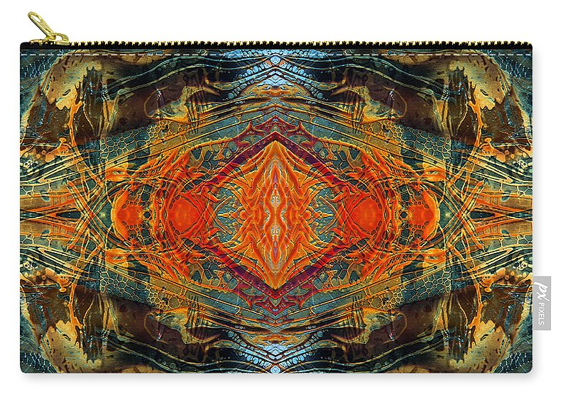 Surrealism Carry-all Pouch featuring the digital art Decalcomaniac Intersection 2 by Otto Rapp