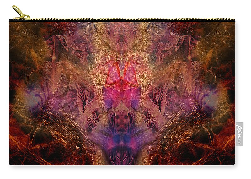 Digital Carry-all Pouch featuring the digital art Decalcomaniac Mirror by Otto Rapp