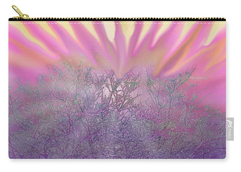 Sunset Carry-all Pouch featuring the digital art December Sunset by Ian MacDonald