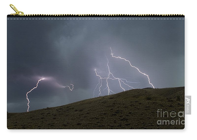 Lightning Carry-all Pouch featuring the photograph Decending Table Mountain  #8446 by J L Woody Wooden