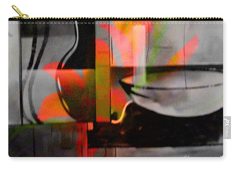 Digital Art Abstract Carry-all Pouch featuring the digital art Decorative Design by Yael VanGruber