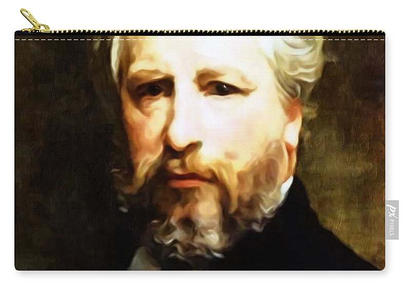 Bouguereau Carry-all Pouch featuring the painting Dedication To William Adolphe Bouguereau by Georgiana Romanovna
