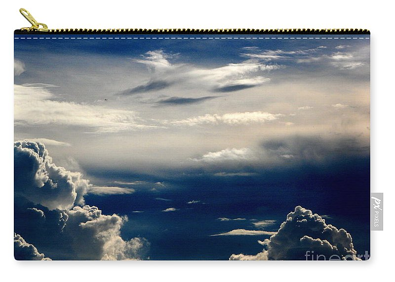 Art For The Wall...patzer Photography Carry-all Pouch featuring the photograph Deep Blue by Greg Patzer