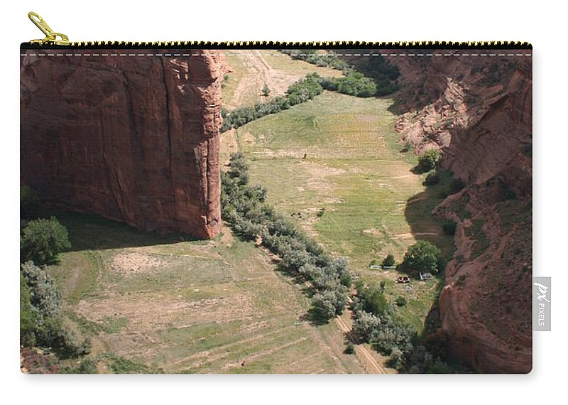 Canyon Carry-all Pouch featuring the photograph Deep Canyon De Chelly by Christiane Schulze Art And Photography