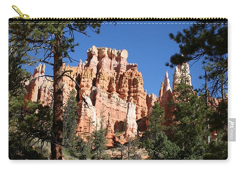 Canyon Carry-all Pouch featuring the photograph Deep In The Bryce Canyon by Christiane Schulze Art And Photography