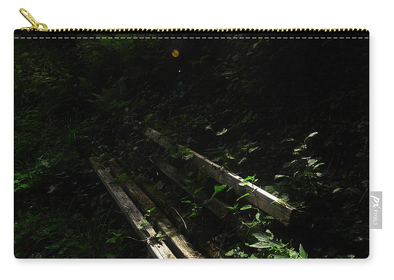 Forest Carry-all Pouch featuring the photograph Deep In The Woods by Andy Prendy