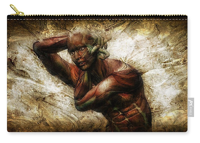 Male Carry-all Pouch featuring the digital art Deep In Thought by Adam Vance