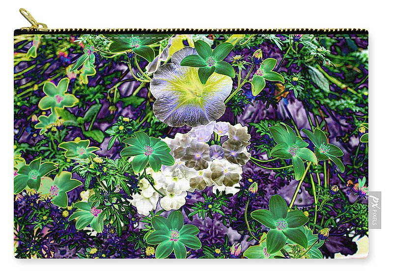 Purple Petunia Carry-all Pouch featuring the photograph Deep Purple by Sylvia Thornton
