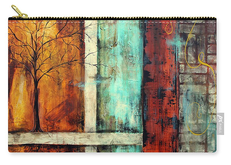 Painting Carry-all Pouch featuring the painting Deep Roots-a by Jean Plout