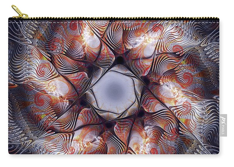 Malakhova Carry-all Pouch featuring the digital art Deep Sea Creature by Anastasiya Malakhova
