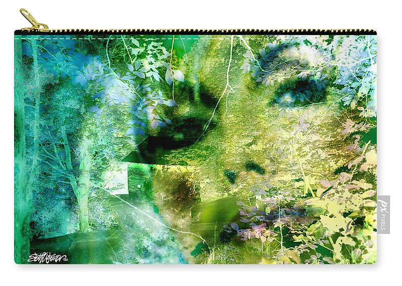 Deep Woods Wanderings Carry-all Pouch featuring the digital art Deep Woods Wanderings by Seth Weaver