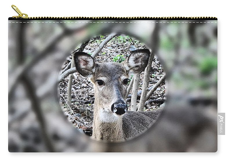Deer Carry-all Pouch featuring the photograph Deer Hunter's View by Russ Considine