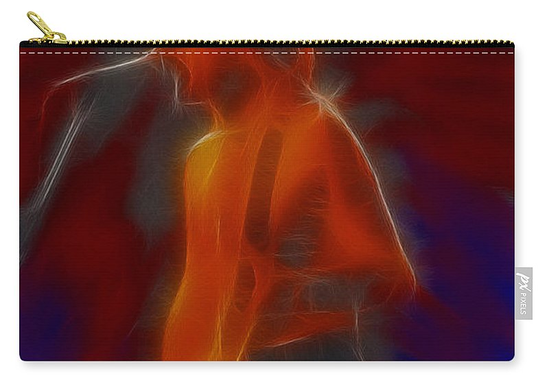 Def Leppard Carry-all Pouch featuring the photograph Def Leppard-adrenalize-gb13-phil-fractal by Gary Gingrich Galleries