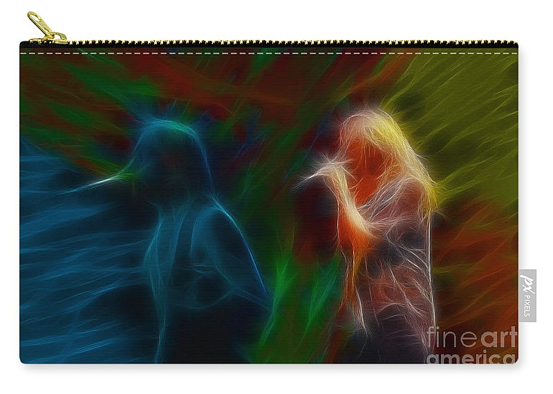 Def Leppard Carry-all Pouch featuring the photograph Def Leppard-adrenalize-jor-gb20--fractal by Gary Gingrich Galleries