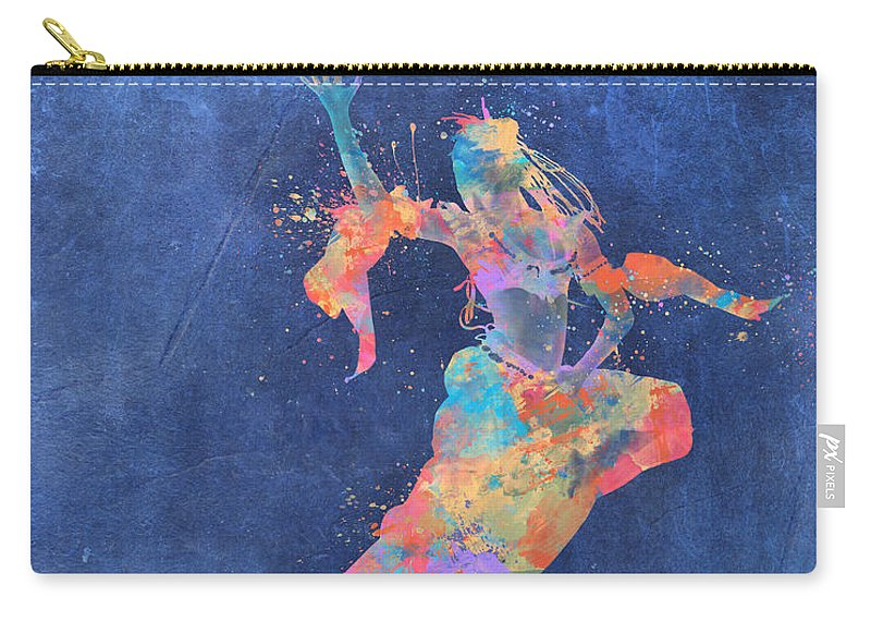 Dancer Carry-all Pouch featuring the digital art Defy Gravity Dancers Leap by Nikki Marie Smith