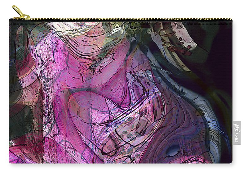 Abstract Carry-all Pouch featuring the digital art Degenerate Inspiration by Richard Thomas