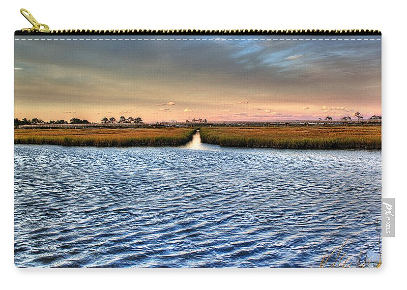 Ocean Carry-all Pouch featuring the photograph Delaware- Assawoman Bay by Tim Buisman