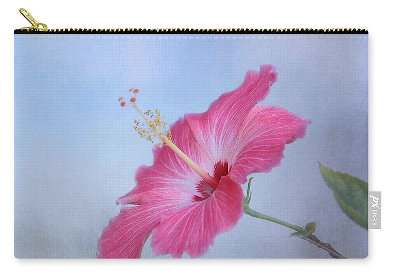 Pink Flower Carry-all Pouch featuring the photograph Delicate Beauty by Kim Hojnacki