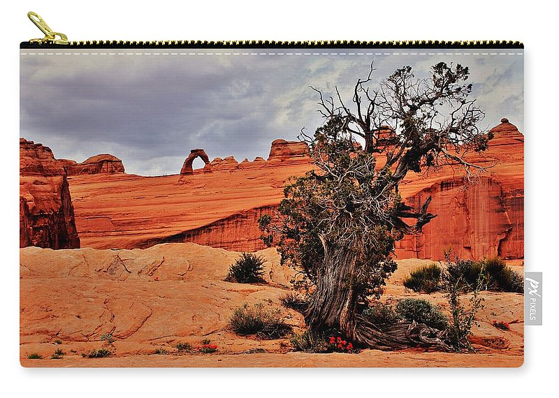 Utah Carry-all Pouch featuring the photograph Delicate Strength by Benjamin Yeager