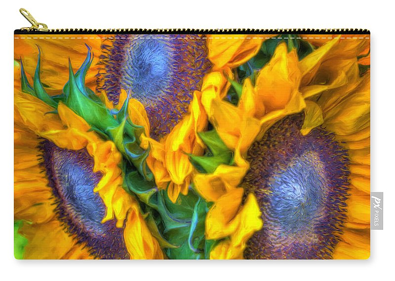 Agriculture Carry-all Pouch featuring the photograph Delightfully Sunny by Heidi Smith
