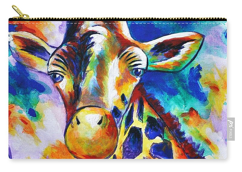 Giraffe Carry-all Pouch featuring the painting Delilah by Heather Hancock