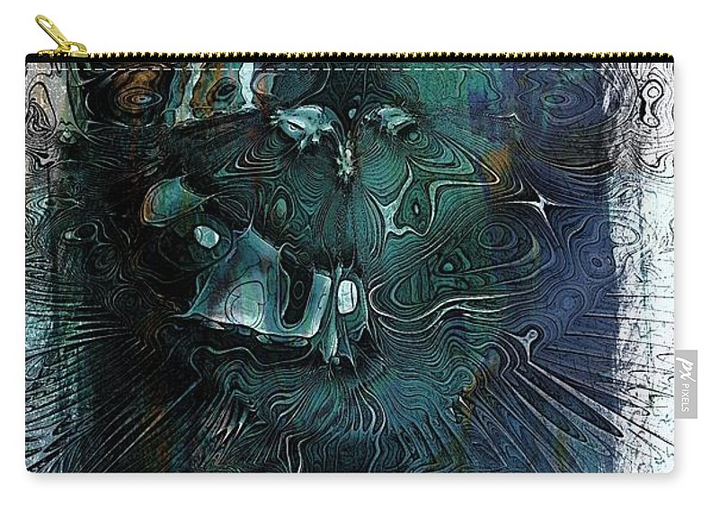 Digital Art Carry-all Pouch featuring the digital art Delusion by Amanda Moore