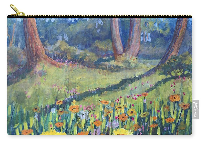Heather Coen Carry-all Pouch featuring the painting Demonstration Garden by Heather Coen