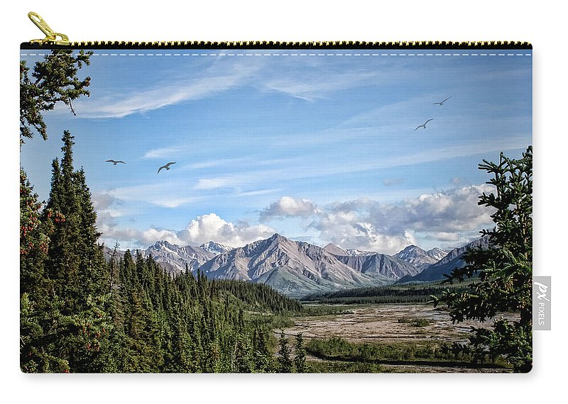 Denali National Park Carry-all Pouch featuring the photograph Denali Valley by Heather Applegate