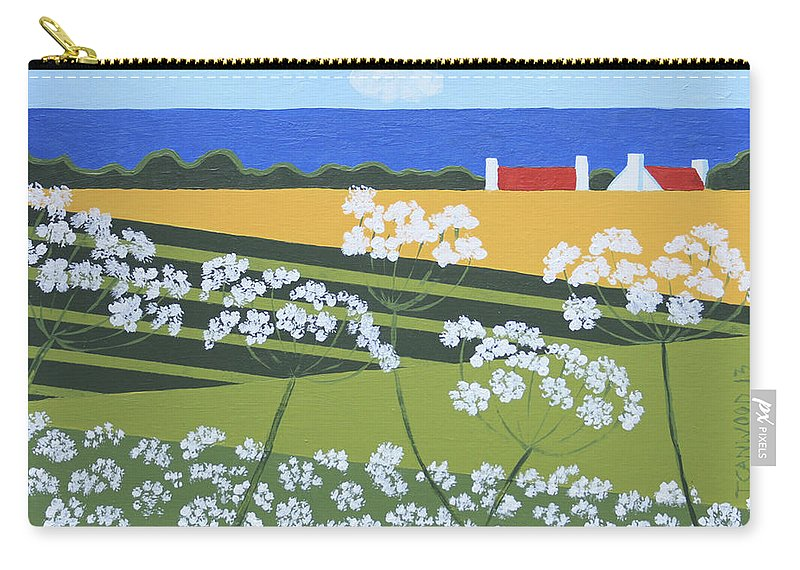Landscape Carry-all Pouch featuring the painting Denmark 4 by Trudie Canwood