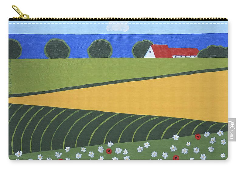 Landscape Carry-all Pouch featuring the painting Denmark 5 by Trudie Canwood