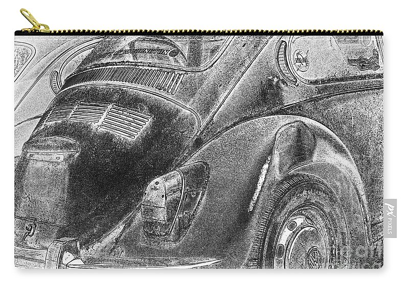 Volkswagen Carry-all Pouch featuring the photograph Dented Ego by Jean OKeeffe Macro Abundance Art