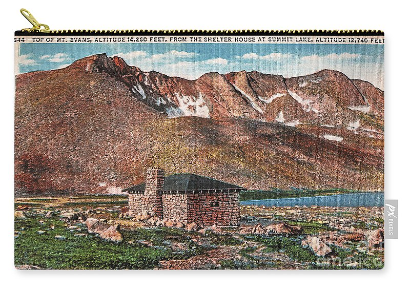 Colorado Carry-all Pouch featuring the photograph Denver Mountain Parks Antique Post Cards by Janice Pariza