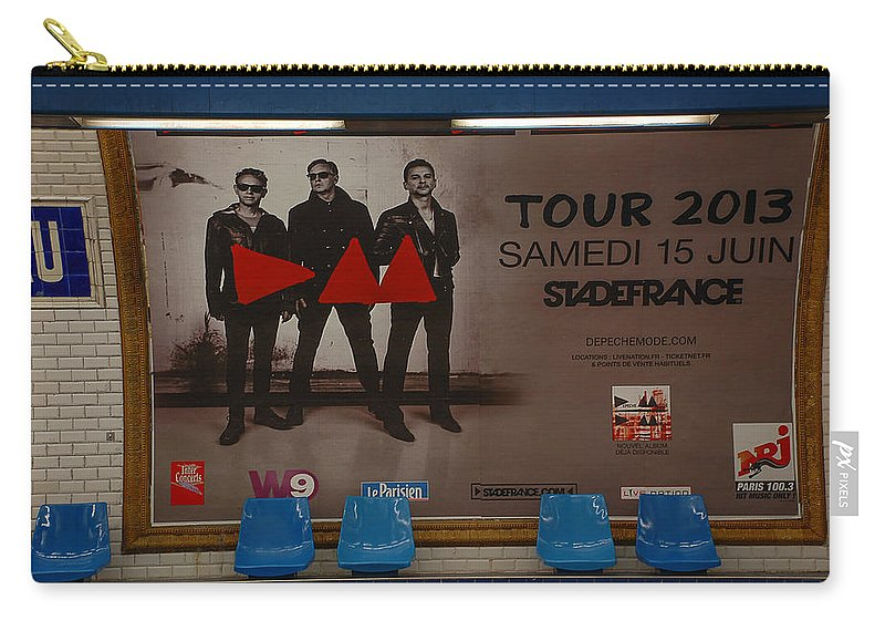 Sign Carry-all Pouch featuring the photograph Depech Mode Tour by Dany Lison