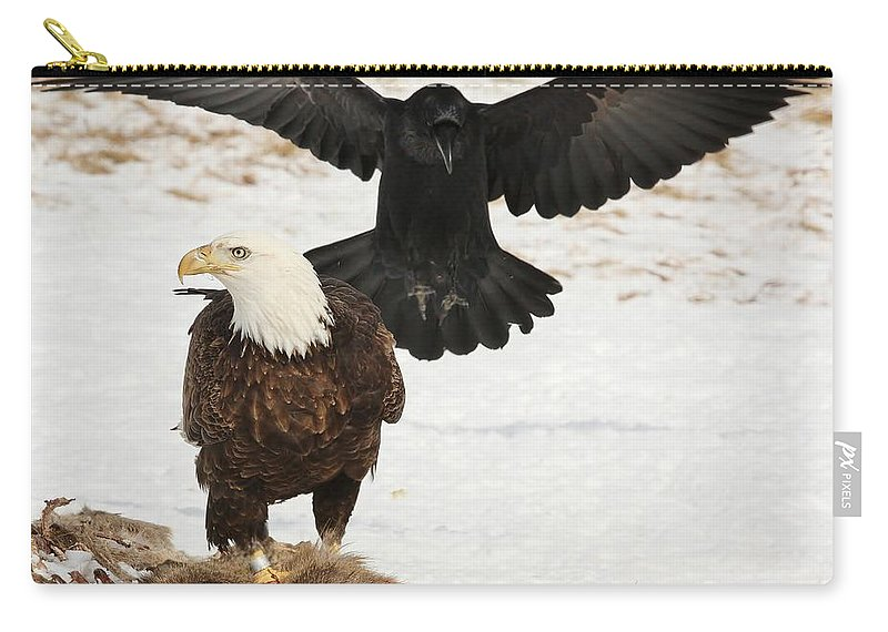 Bald Eagle Carry-all Pouch featuring the photograph Descending Shadow by Teresa McGill