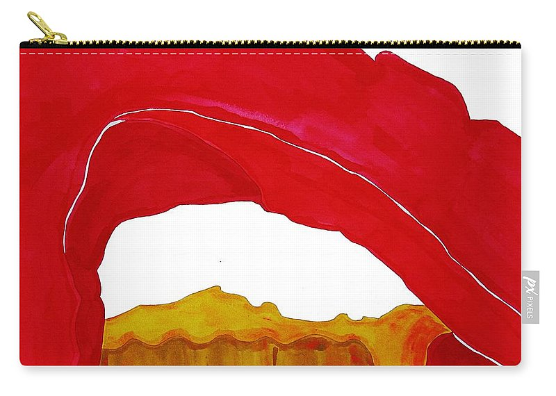 Desert Arch Carry-all Pouch featuring the painting Desert Arch Original Painting Sold by Sol Luckman