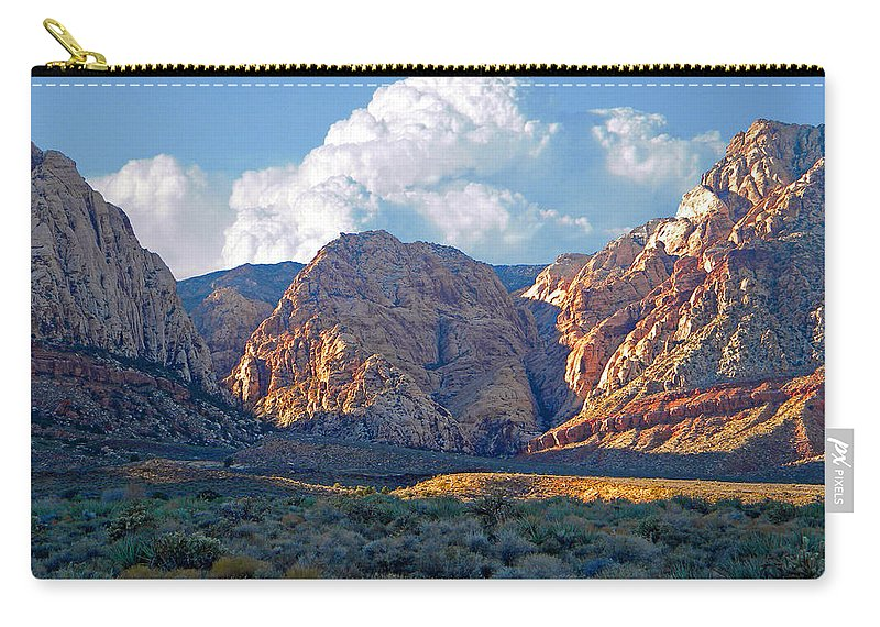 Frank Wilson Carry-all Pouch featuring the photograph Desert Canyon by Frank Wilson