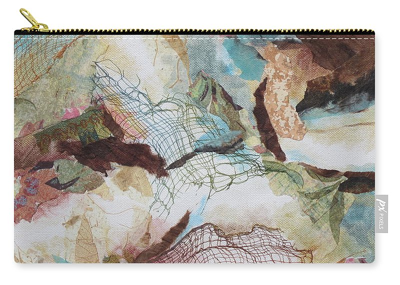 Abstract Carry-all Pouch featuring the painting Desert Dawn 2 by Deborah Ronglien
