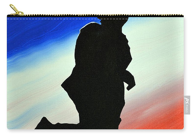 Desert Duty Carry-all Pouch featuring the painting Desert Duty II by Alys Caviness-Gober