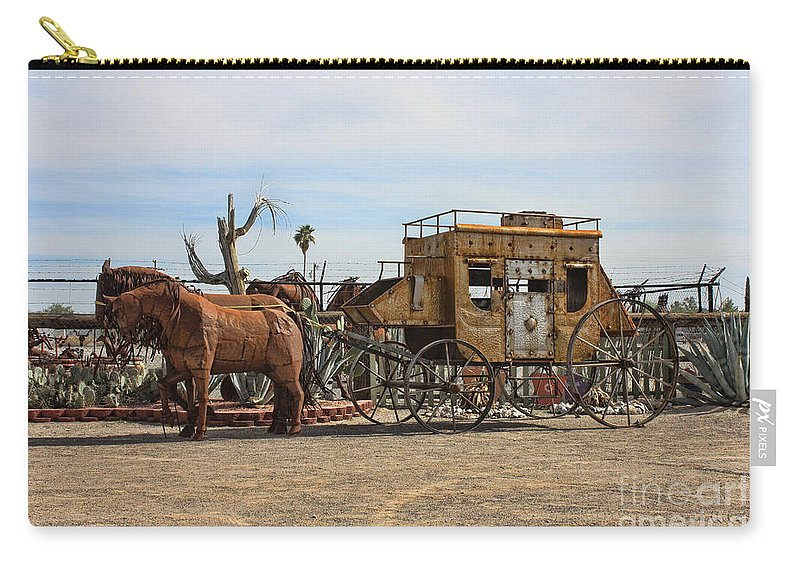 Sculpture Carry-all Pouch featuring the photograph Desert Find by Tommy Anderson