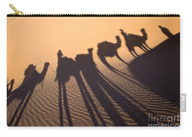 Desert Carry-all Pouch featuring the photograph Desert Shadows by Delphimages Photo Creations