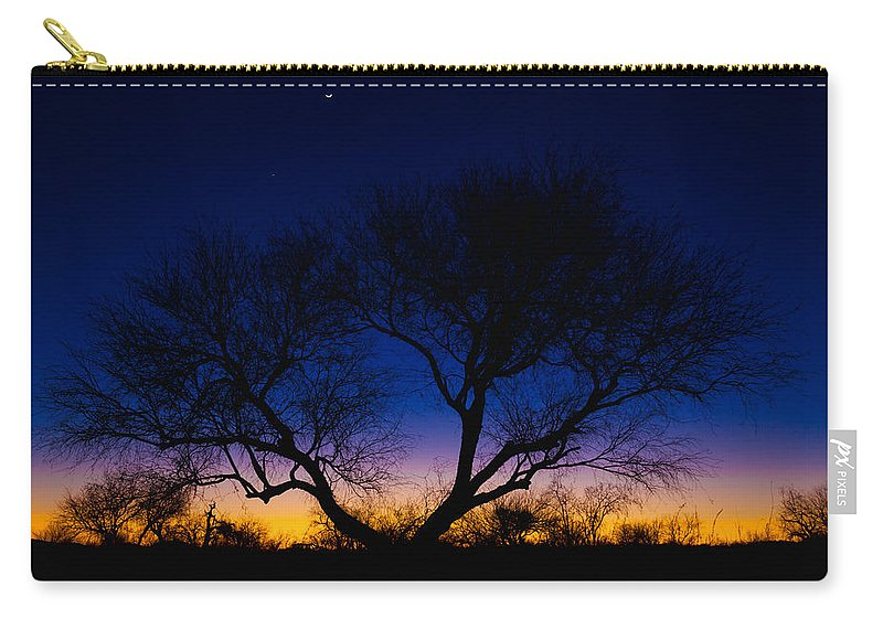 Outdoor Carry-all Pouch featuring the photograph Desert Silhouette by Chad Dutson