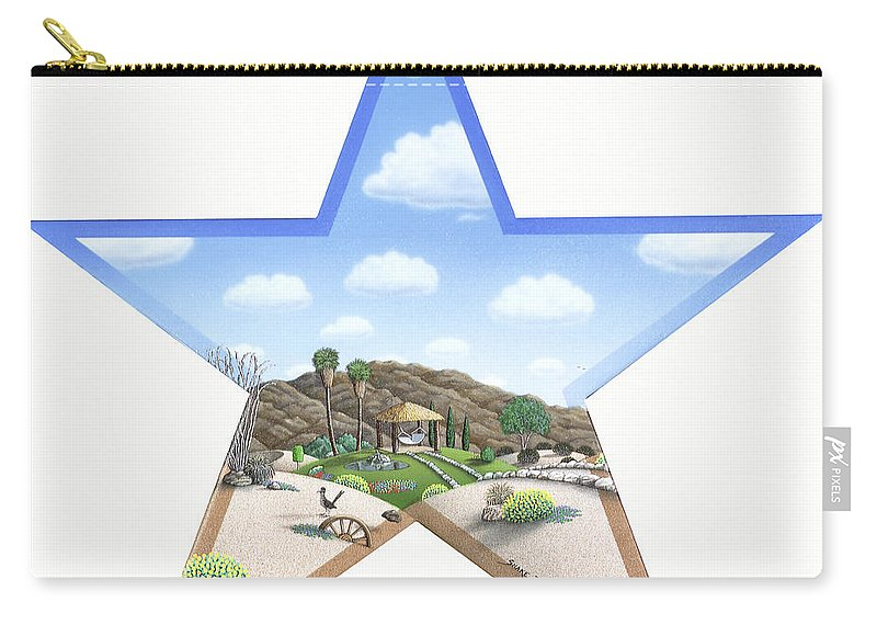Desert Carry-all Pouch featuring the painting Desert Star by Snake Jagger