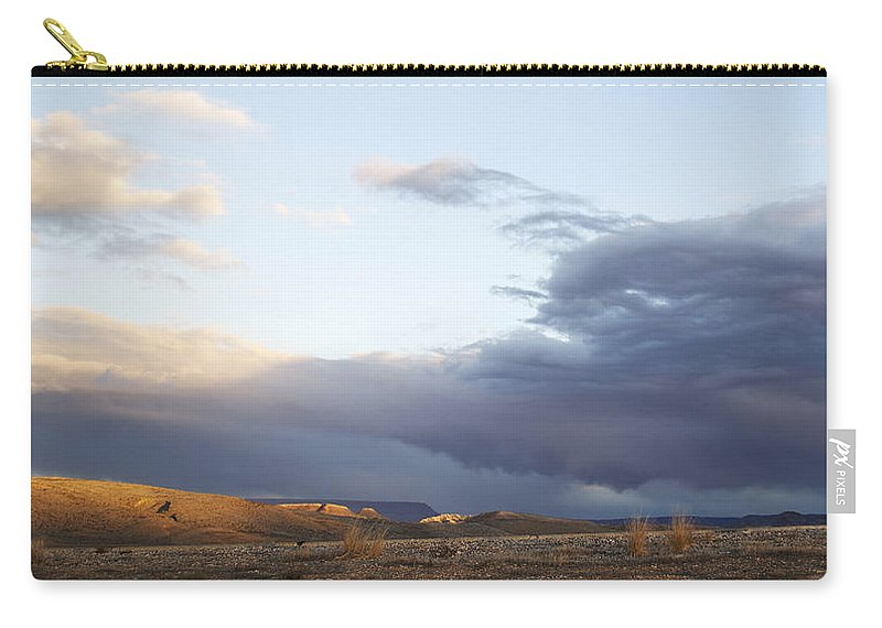 Sunset Carry-all Pouch featuring the photograph Desert Sun by Emily Smith