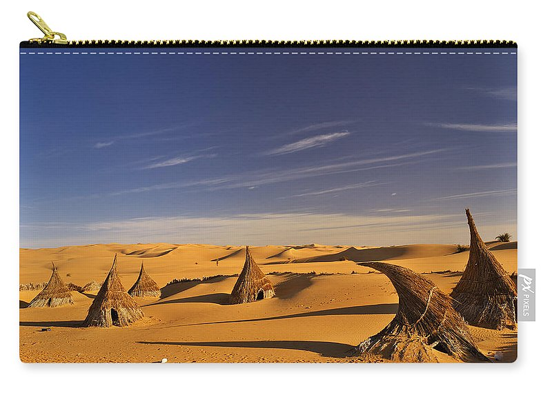 Landscape Carry-all Pouch featuring the photograph Desert Village by Ivan Slosar