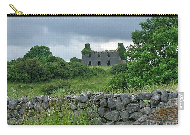 Ireland Carry-all Pouch featuring the photograph Deserted Building In Ireland by Brenda Brown