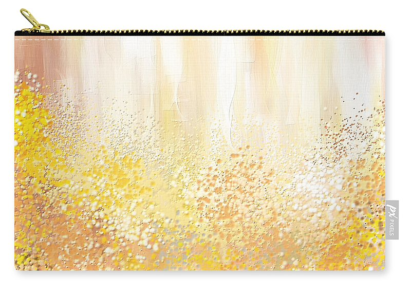 Peach Carry-all Pouch featuring the painting Desirous by Lourry Legarde