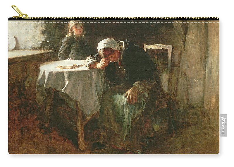 Mother Carry-all Pouch featuring the painting Despair, 1881 by Frank Holl